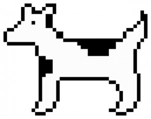 Original dogcow icon by Susan Kare for Apple